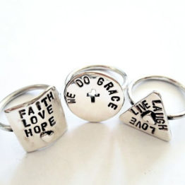 Hand stamped message rings