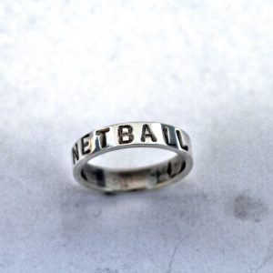 Hand stamped netball ring