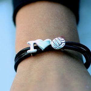 I heart netball bracelet