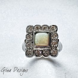 gold, diamonds and opel ring