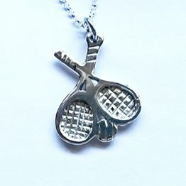 tennis racquet necklace