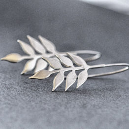 Leaves from a branch earrings
