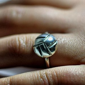 Silver netball ring