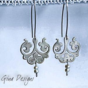 chandelier cut out earrings