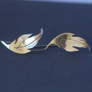 Leaf cut out earrings