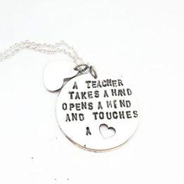 Round Stamped pendants