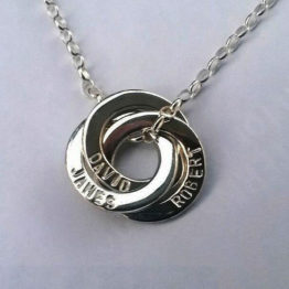 intertwined pendant necklace
