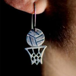 Ball in hoop earrings