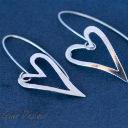 cut out heart earrings