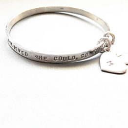 hand stamped name or verse bangle